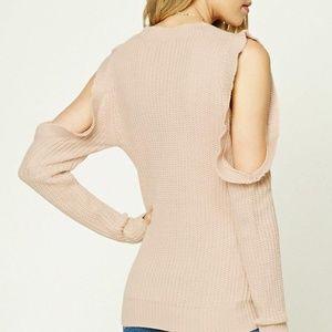 Forever 21 Cold Shoulder Sweater